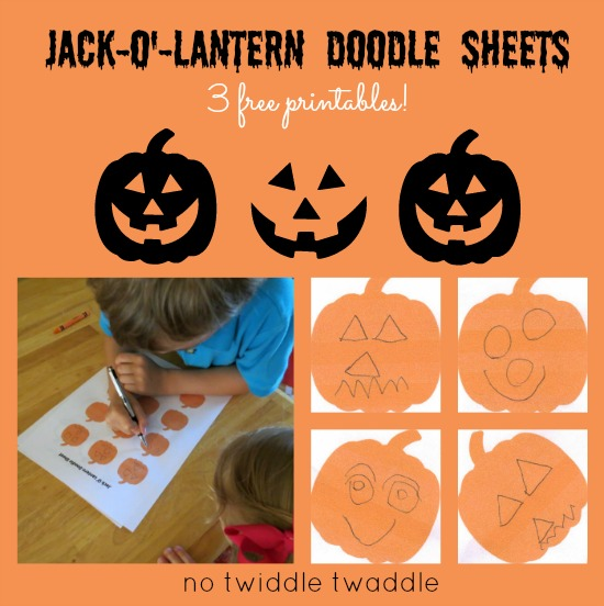 Jack-o'-lantern Doodle Sheets by No Twiddle Twaddle
