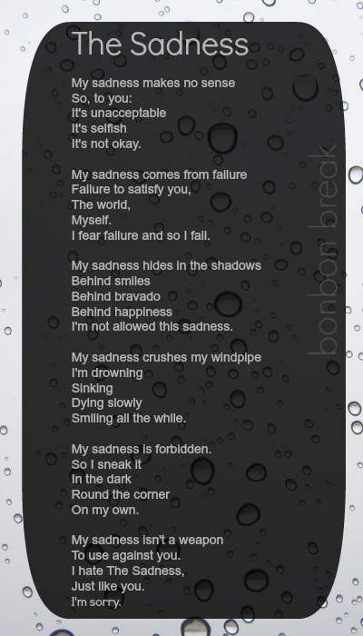 The Sadness by a poet