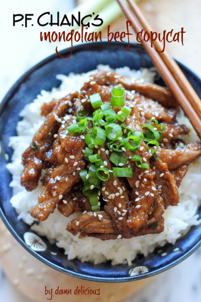 PF Chang's Mongolian Beef Copycat by Damn Delicious