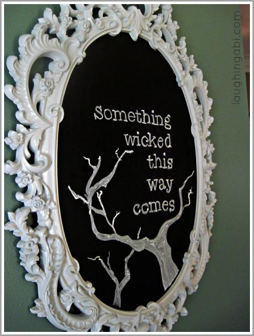 A Wicked Halloween Chalkboard Tutorial