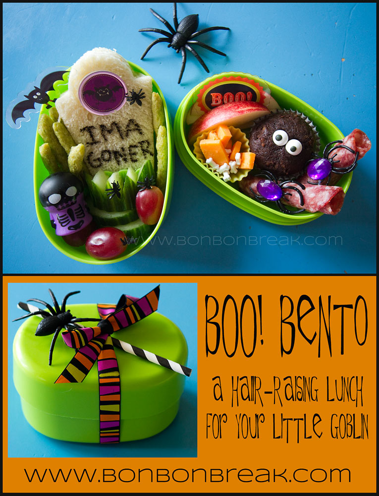 Boo! Bento...A Hair Raising Lunch For Your Little Goblin by Arlee Greenwood for Bonbon Break titlecollage