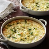 Cheesy Mashed Cauliflower Gratin by An Edible Mosaic