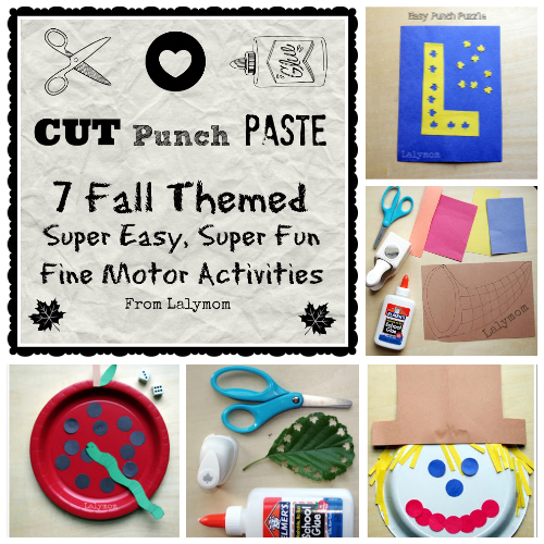 Cut Punch Paste 7 Fall themed Activities from Lalymom