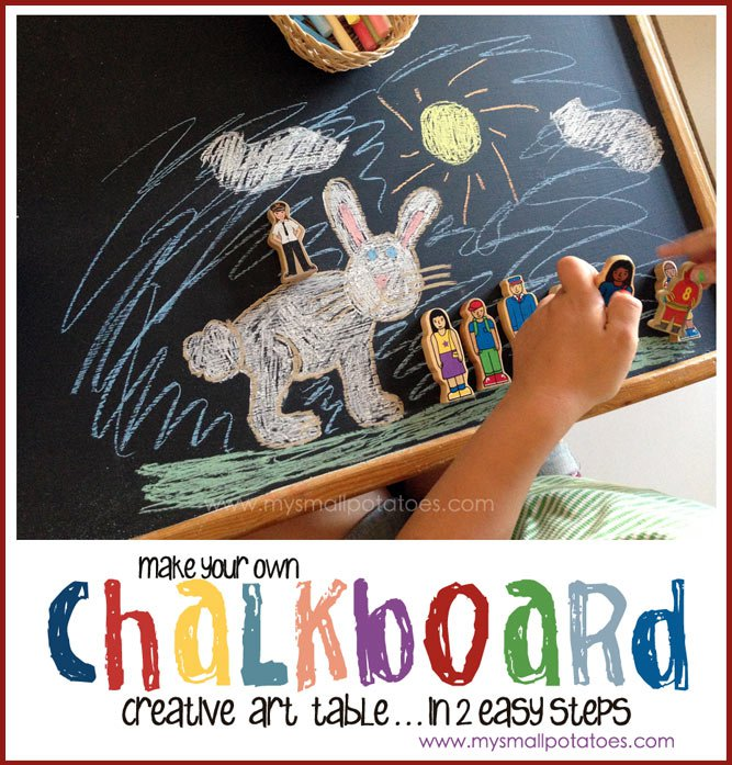 DIY Chalkboard Creative Table by My Small Potatoes