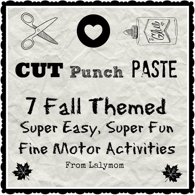 fall themed fine motor activities with cutting paste and punch from lalymom bonbon break. Black Bedroom Furniture Sets. Home Design Ideas