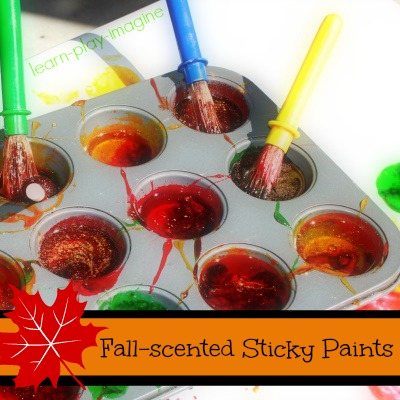 Homemade Paint {Fall Sticky Paints} by Learn Play Imagine