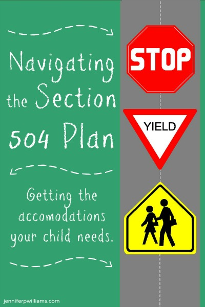 Navigating the 504 Plan by Jennifer P Williams