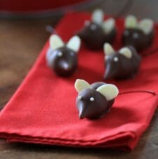 Christmas Chocolate Cherry Mice