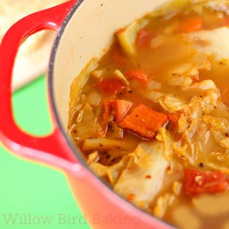 Light and Healthy Cabbage Soup by Willow Bird Baking