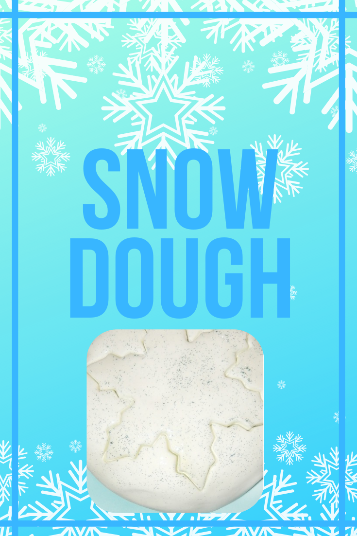 Make Snow Dough with only 2 ingredients! This is the perfect winter craft or Christmas activity for you and your toddler or elementary age school child.