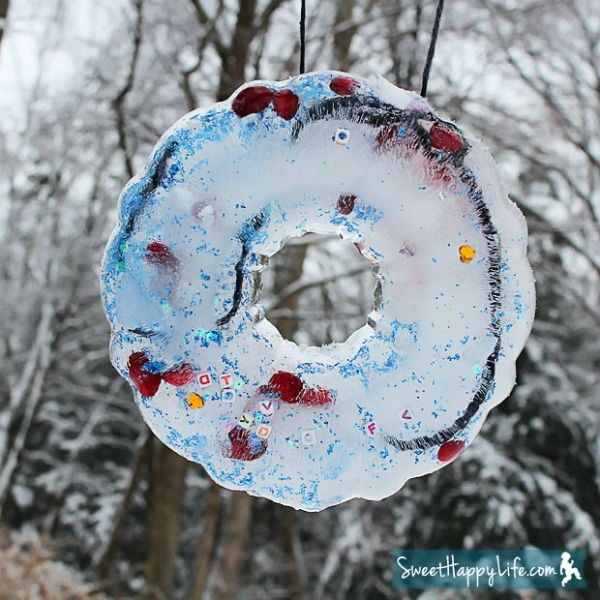 Frozen Winter Ice Ornaments by Sweet Happy Life