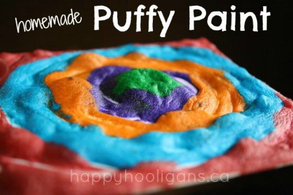 Homemade Puffy Paint by Happy Hooligans