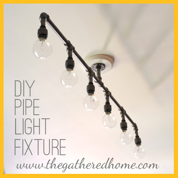 How to make a fabulous plumbing pipe light fixture by the for How to make a light fixture