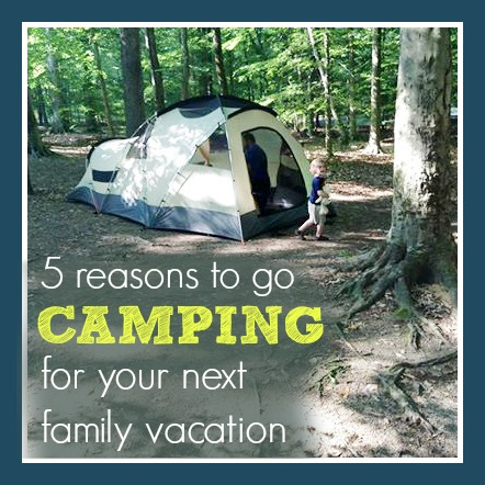 5 Reasons to go Camping for Your Next Family Vacation by Mommy Loves Trees