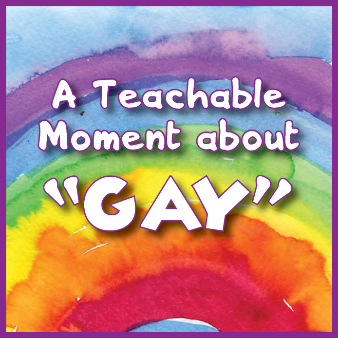"""A Teachable Moment About """"Gay"""" by Naptime Writing"""