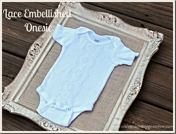 Lace Embellished Onesie by Uncommon Designs