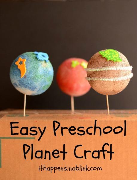 Easy Preschool Planet Craft by It Happens in a Blink