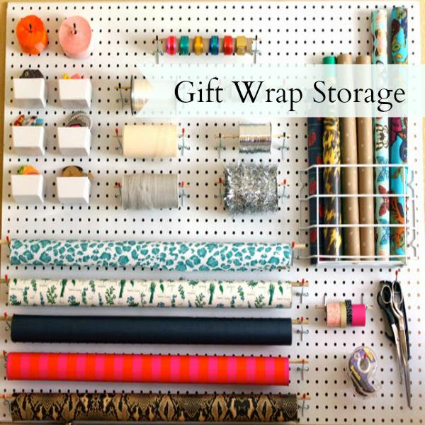 Gift Wrap Storage by Leopard & Plaid
