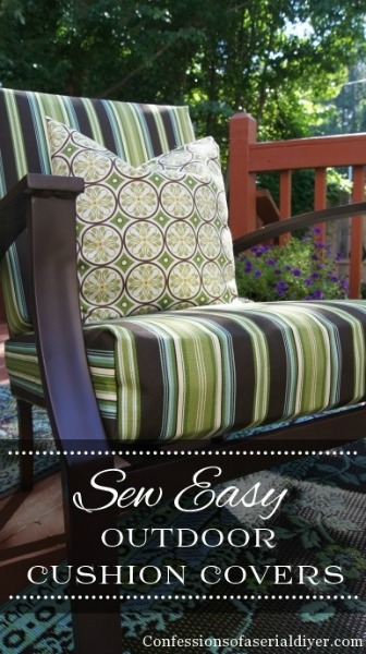 Outdoor Cushion Covers by Confessions of a Serial Do It