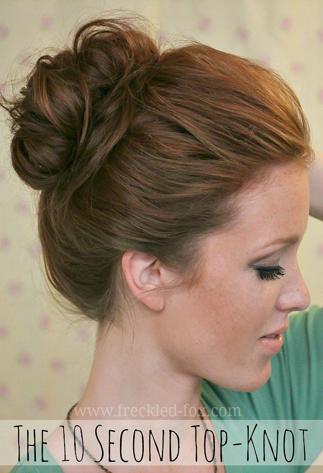 Freckled Fox 10 second top knot on Bonbon Break