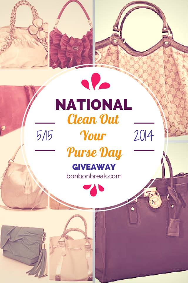 National Clean Out Your Purse Day and GIVEAWAY!