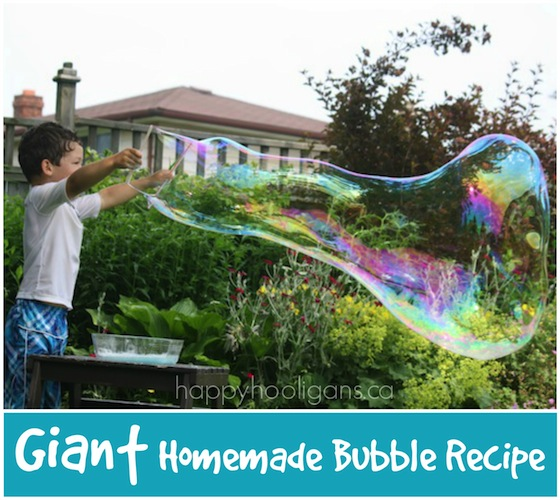 Homemade Giant Bubbles Recipe