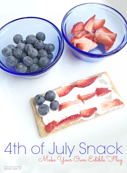 Edible Flag Snack for the Fourth of July