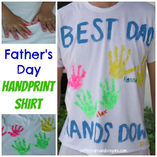 Easy Father's Day Hand Print T Shirt