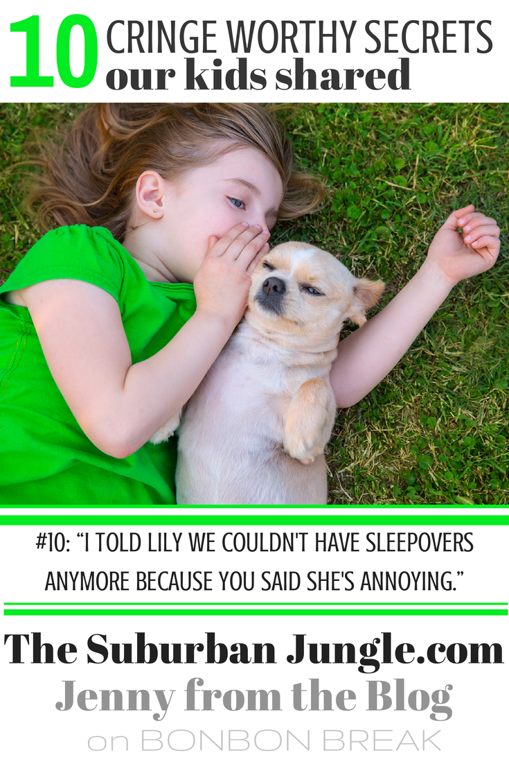 10 secrets our kids share with other people by Jenny from the Blog
