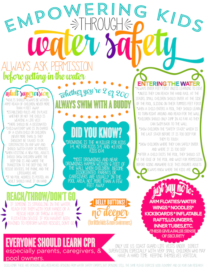 Water Safety For Kids Printable