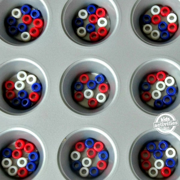 Patriotic Pony Bead Crafts for Fourth of July by Kids Activities Blog! So many cute ideas!