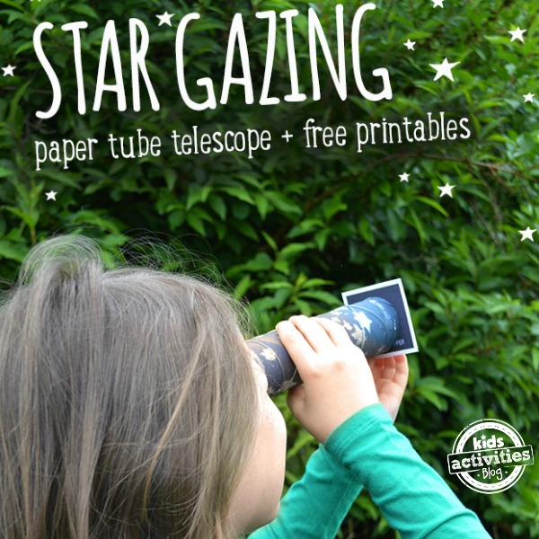 Make Your Own Telescope and Stargaze with Free Printables by Kids Activities Blog
