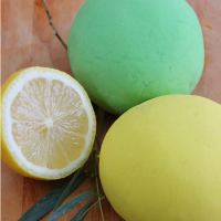 Simple No-Cook Lemon and Eucalyptus Play Dough