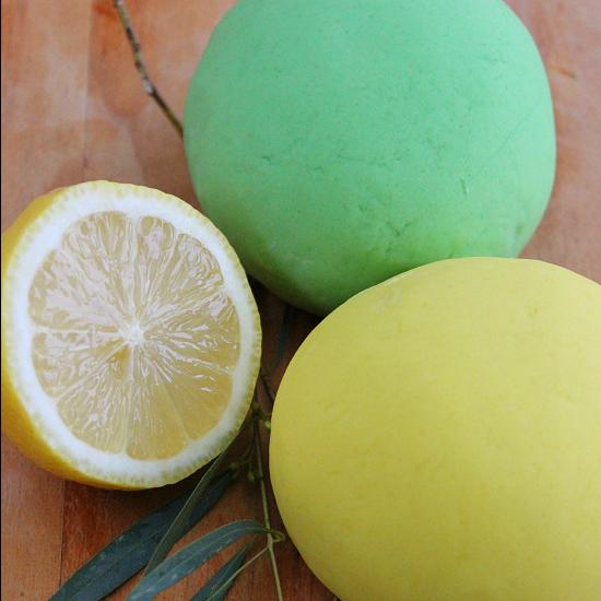 Simple No-Cook Lemon and Eucalyptus Play Dough