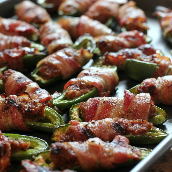 BBQ Sausage-Stuffed Grilled Jalapenos by Erica's Recipes
