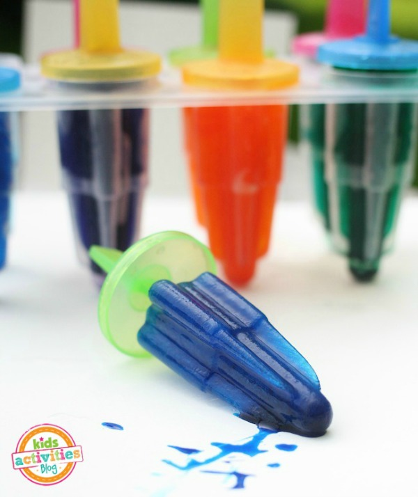 Draw With Colored Ice Popsicles