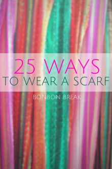 I was just wrapping my scarf around my neck. It turns out there are many ways to wear a scarf.
