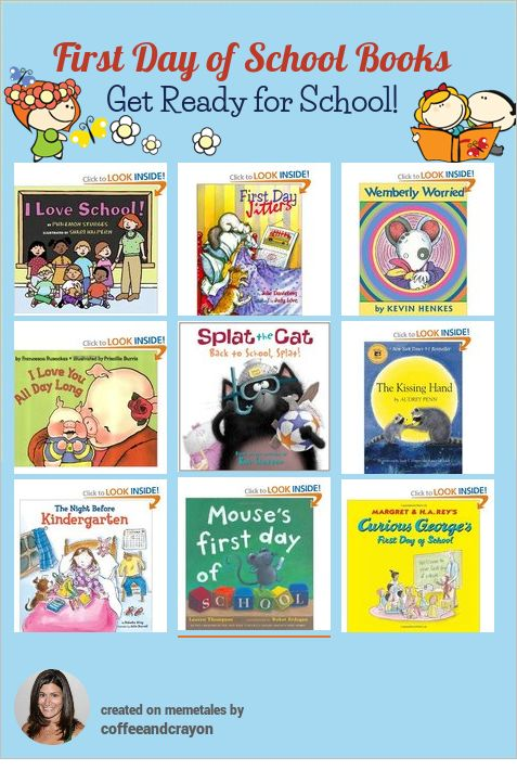 First Day of School Books for Kids!