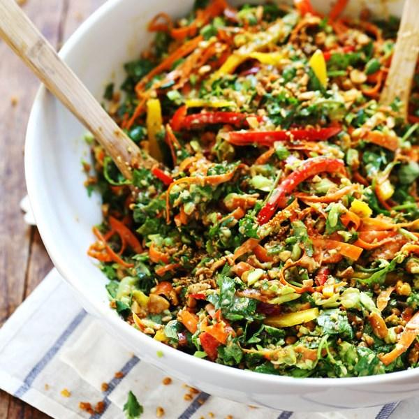 Thai Salad with Sesame Garlic Dressing