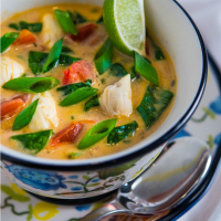 Crab, Spinach & Coconut Soup