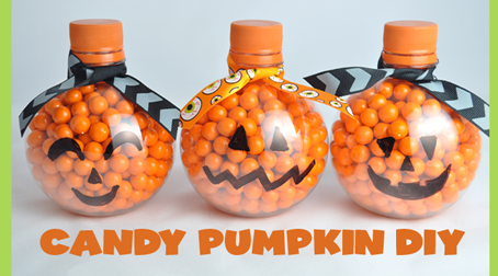 DIY Halloween Candy Pumpkin Craft