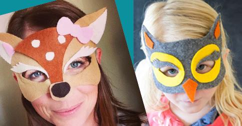 DIY No Sew Felt Halloween Masks
