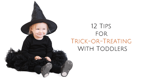 tips for trick or treating with young children
