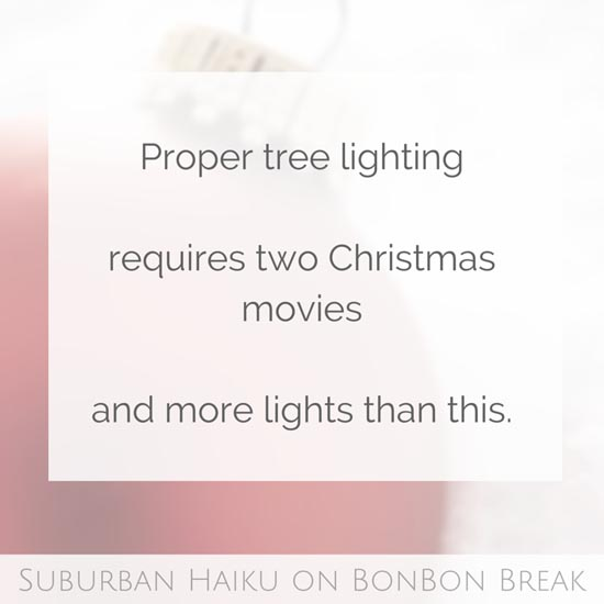 Peyton's cheeky Christmas Haikus are perfect to help us slip into holiday cheer. This time her poetry weaves its way around the Christmas Tree. Enjoy!