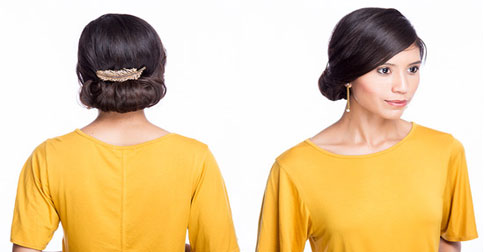 Holiday Hairstyle: The Rolled Bun