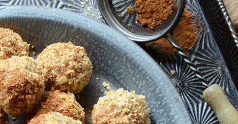 Maple Walnut Cheesecake Truffles