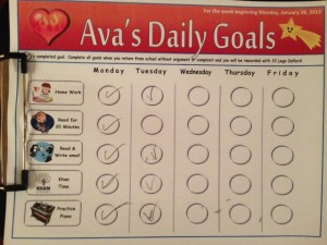 Daily Goal Chart