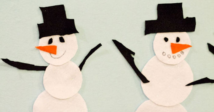 Do You Want to Build a Snowman – Felt Board and Rhyme