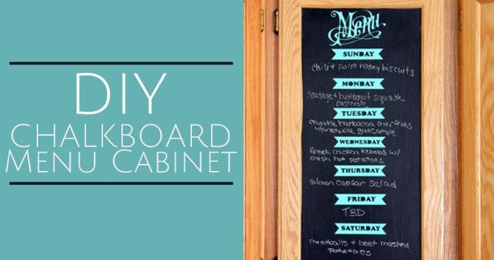 DIY chalkboard menu cabinet 2