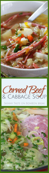 This is an easy twist on a St. Patrick's Day Classic. This Corned Beef and Cabbage soup will be a winner with your family!